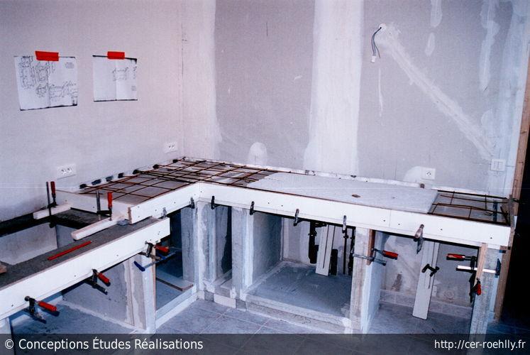 beton pour plan de travail cuisine maison design. Black Bedroom Furniture Sets. Home Design Ideas